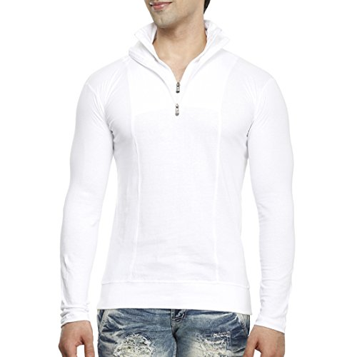 Tees-Collection-Mens-Half-Zip-Double-Flap-Collar-Full-Sleeve-Cotton-T-shirt