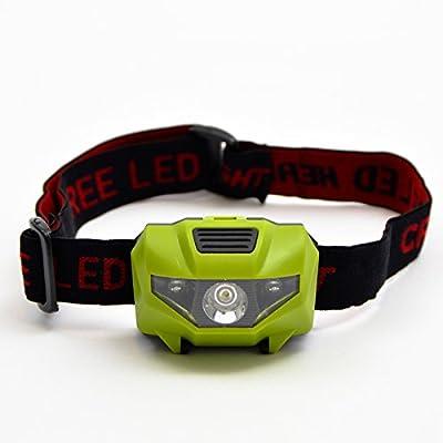 Apollo LED Stirnlampe Kilimandscharo LED Kopflampe über 500 Lumen, super leicht 85 gramm, ideal zum joggen und wandern, verstellbar, 3 Leuchtstärken LED Stirnlampen LED Kopflampen LED Stirnleuchte