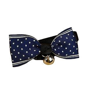 Hilai 8.5 * 4cm Noeud Papillon Petite Cloche Chat Chien, Doux Confortable, Collier Ajustable, 1PCS