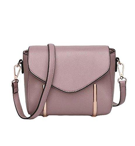Umhängetasche Lychee Muster Leder Handtasche Umhängetasche Handtasche Purple