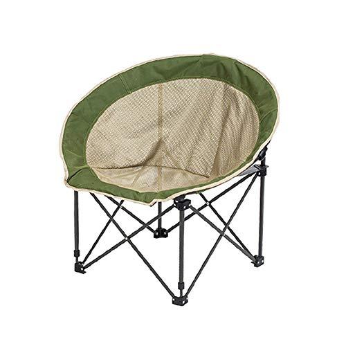 ZSLLO Campingstuhl Große Outdoor-Camping Klappstuhl Erwachsenen atmungsaktives Mesh Garn Mond Stuhl Regisseur Stuhl Liege runden Stuhl Sofa Stuhl tragen Oxford Tuch Angeln Hocker (grün) Klappstuhl - - Regisseur Stuhl