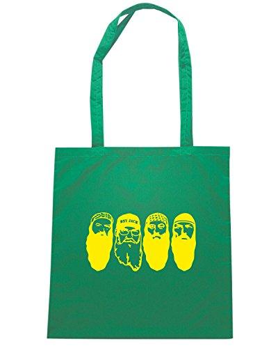 T-Shirtshock - Borsa Shopping FUN1285 duck dynasty die cut vinyl decal car sticker 07 69615 Verde