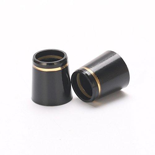 tourgolf Noir massif avec simple bague de Golf or virole & # x3010; 0.370id/0.540od/0.590h & # x3011; 12pièces d'un Lot