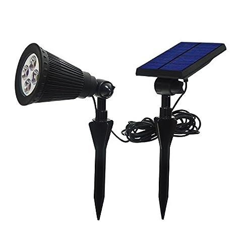 katomi 200Lumen IP44, 4LED, Solar-Strahler Wasserdicht Outdoor Wandleuchte, Sicherheit Beleuchtung,