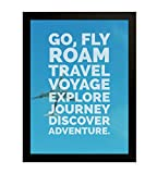 Best Frames With Quotes - Travel and Adventure Motivational Quote Poster | Framed Review