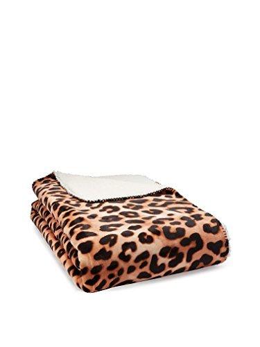 Victoria's Secret PINK Plush Soft Sherpa Blanket Leopard Print by Victoria's Secret
