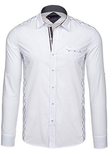 BOLF - Camicia casual - maniche lunghe �?RAW LUCCI 528 - Uomo Blanc