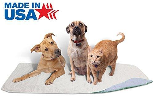 Careoutfit Erstklassige wasserdichte Wiederverwendbare/Gesteppte waschbare Hunde- / Welpentraining-Reise-Pee-Pads/kleine Pee-Pads 36 × 72 Blau -