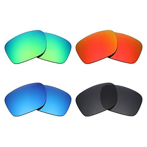 Mryok polarisierte Ersatzgläser für Oakley Holbrook LX Sonnenbrille - Stealth Black/Fire Red/Ice Blue/Emerald Green