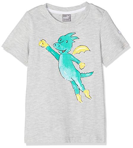 Puma Jungen Tabaluga - Boys Tee T-Shirt, Medium Gray Heather, 128