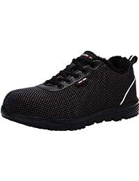 LARNMERN Zapatos de Seguridad para Hombre con Puntera de Acero Zapatillas, Ligeros y Transpirables Zapatos de Entrenamiento prevención de pinchazos