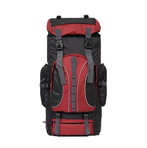 Outdoor Rucksack 60L Bergsteigen Tasche Schulter Reise Ranzen Red