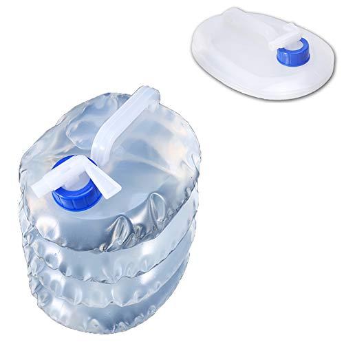 LYJNBB 3 litros de contenedor de Agua Plegable 2 Paquetes, sin BPA portadores portátiles no tóxicos para caravanas Camping Escalada Viajes Senderismo Caza, Actividades al Aire Libre Cubo