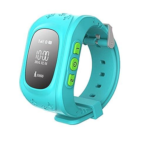 SinoPro Q50 Kinder Smart Watch Kinder Armbanduhr mit Anti-verloren GPS Tracker SOS Call Location Finder Remote Monitor Schrittzähler Funktionen Parent Control durch iPhone und Android (Gps Tracker Für Kinder)