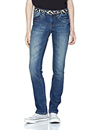 TOM TAILOR Damen Jeans Straight Alexa with Belt