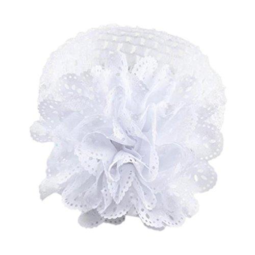 Huhu833 Baby Kinder Mädchen Spitze Blume Haarband Stirnband Dress Up Kopfband (Weiß)