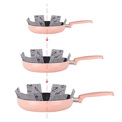Yishik Anti-Scratch Pot & Pan Protectors 9-Piece Set to Keep Kitchenware Free of Scratches or Marring When Stacking or Nesting Cookware Accessories