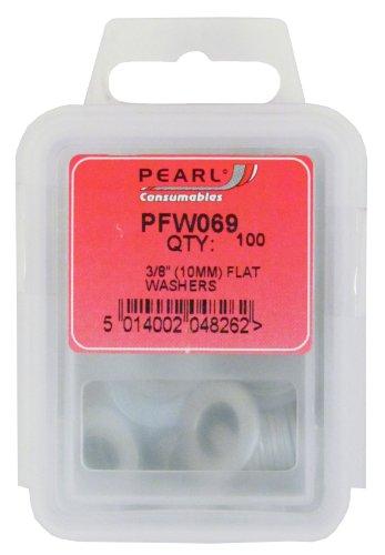 Pearl PFW069 - Rondelle piatte, confezione da 100, 3/8