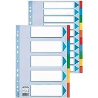 Esselte Separadores Cartón, Tamaño A4, 5 pestañas, Multicolor, 100191