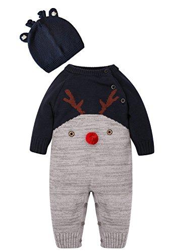 ZOEREA bebé recién nacido Suéter unisex Deer pattern design Otoño y invierno Navidad por 0-2 años