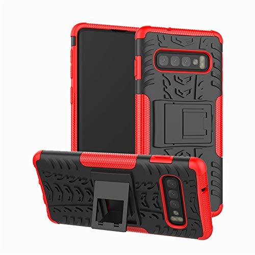 betterfon | Outdoor Handy Tasche Hybrid Case Schutz Hülle Panzer TPU Silikon Hard Cover Bumper für Samsung Galaxy S10 SM-G973 Rot Hybrid Case Rot