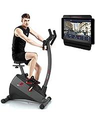 Sportstech Ergometer ESX500 mit Smartphone App Steuerung + 5,5 Zoll Display, 12KG Schwungmasse, Pulsgurt kompatibel – Fitness Bike Heimtrainer mit flüsterleisem Riemenantrieb