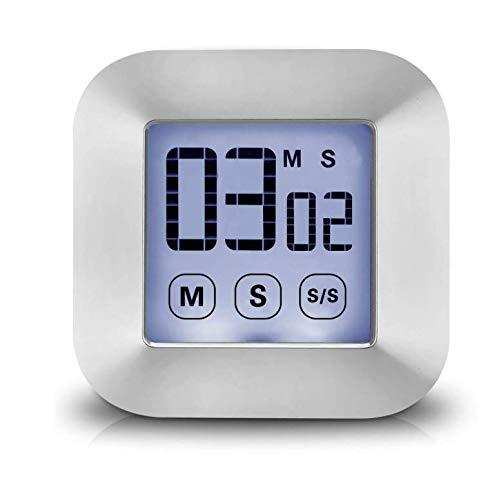 Paul Nal Touchscreen Digitaler Küchentimer Magnetisch Stoppuhr LCD Display Elektronische Timer Eieruhr mit Stand, lauter Wecker, Kochen Timer für Studium/Workout/Cook