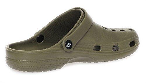 Herren Clogs Badeschuhe Gartenschuhe Pantoletten Sandalen Slipper Latschen CL 00260 Olive