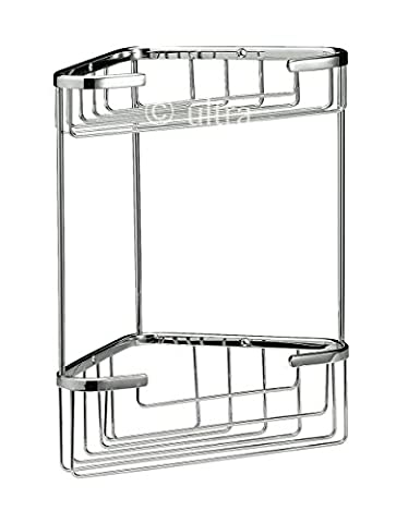 Ultra LL308 Large Wirework 2-Tier Corner Basket -