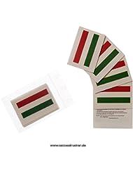 25 x Ungarn Tattoo Fahnen Fan Set - EM Fanartikel 2016 - Hungary Flag