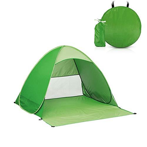 Camping Zelt Pop-up Strandzelt,2-3 Personen Zelt,UV-Schutz Schutzfaktor 50 Sonnenschutz mit Tragbar Einschließlich Tragetasche und Zeltpflöcke zum Outdoor, Angeln, Strand, Terrasse oder Garten (Grün)