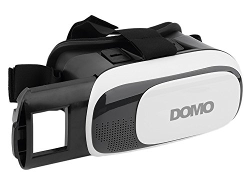 """DOMO nHance VR9 for Smart Phones upto 3.5"""" to 6"""" Screen 3D Video VR Headset and support Lenovo TheaterMax K4 Note & Vibe X3 Google Cardboard Universal Virtual Reality - Inspired by Oculus Rift and Samsung Gear"""