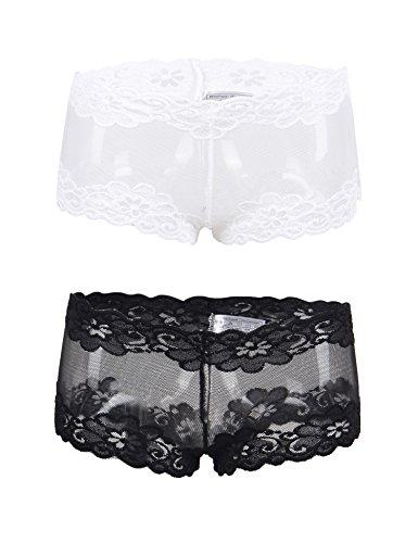 ohyeah Femmes Boxers Culotte Sexy Dentelle Slips sous-Vêtement Grande  Taille 36 à 52 ( 385cd1e3e40