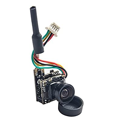 GOTOQOMO GT08 Micro 5.8GHz 48CH 25mW FPV Transmitter and 600TVL Camera with OSD Interface for FPV Quadcopter Drone