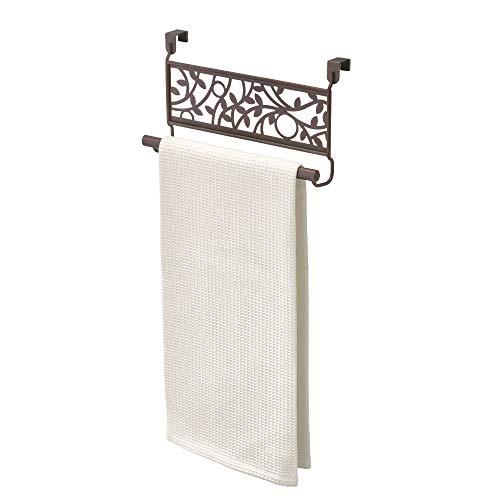 Küche-schrank Storage-systeme (InterDesign Vine Handtuchhalter zum Hängen über den Schrank, für Küche oder Bad, Bronzefarben, Edelstahl, Braun)