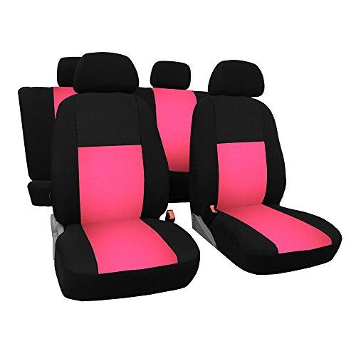 GSC Sitzbezüge Komplettset Autositzbezug Universal pink, Gallante, kompatibel mit Suzuki Splash Pink Mit Einem Splash