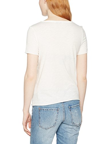 ONLY Damen TShirt Onltania S Can/Heart Top Box Ess Weiß Cloud Dancer  PrintCan