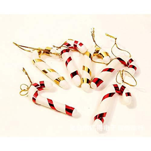 kerstange hängende Verzierung Christbaumschmuck X'Mas Haus Dekoration Kunststoff hängen (zufällige Farbe) ()