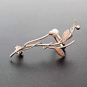 Elf Ohr Manschette Ohrring mit perle aus sterling silber, handgemachter Schmuck von Emmanuela, Rose Gold Ohr Kletterer…