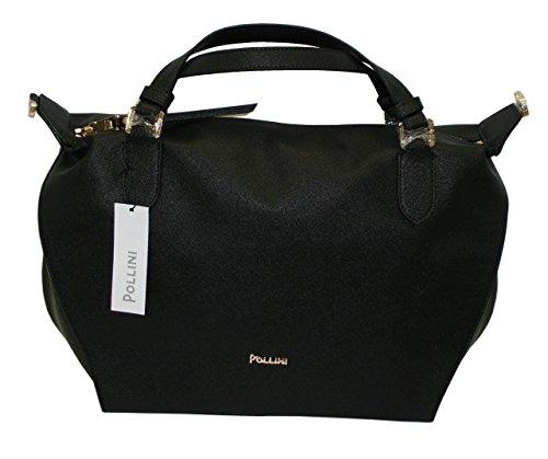 Borsa POLLINI SC4525 woman handbag saffiano pu nuova collezione NERO