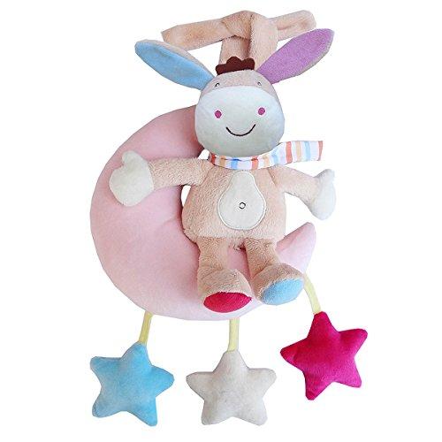 FYGOOD Baby Aktiv-Anhänger, Plüschtiere Kleinkindspielzeug, Kinderwagen Spielzeug Esel Einheitsgröße