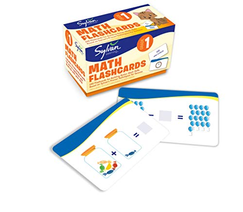 1st Grade Math Flashcards: 240 Flashcards for Building Better Math Skills Based on Sylvan's Proven Techniques for Success (Sylvan Math Flashcards) (1 Math Games For Grade)