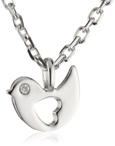 Esprit Kinder und Jugendliche Halskette 925 Sterling Silber rhodiniert Zirkonia ESNL92777A340