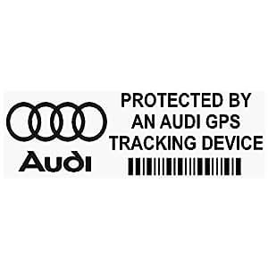 Adesivi per finestrino, con dispositivo di rilevamento tramite GPS, 87 mm x 30 mm, colore nero, set di 5
