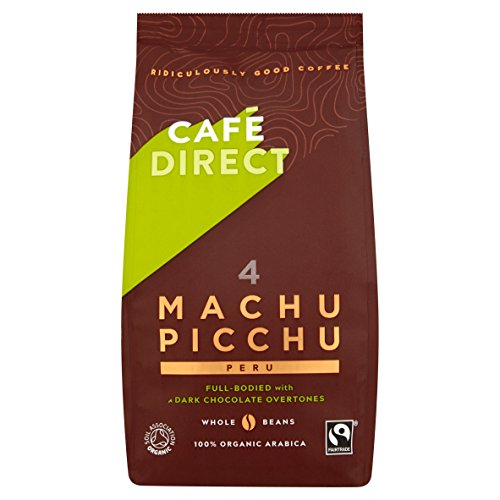 Cafédirect Fairtrade Machu Picchu Organic Whole Beans Coffee 227g (Pack of 2)