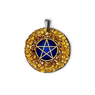 """Amber Magic quot;Pentagram"""" Bernstein-Amulett zum Wecken der inneren Kräfte und zum Schutz"""
