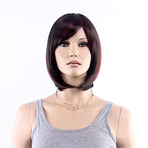 Stfantasy Wigs for Women Short Straight Heat Resistant Synthetic Hair 13