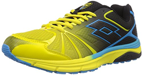 Lotto Sport Moonrun, Chaussures de course homme Multicolore - Mehrfarbig (GRN LIZ/BLACK)