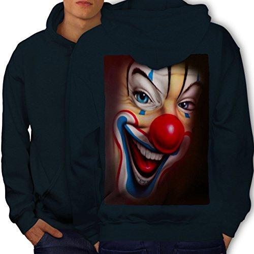 Clown Unheimlich Gruselig Grusel Lächeln Missgeburt Männer S Kapuzenpullover Zurück | - Professionelle Erwachsene Für Clown-kostüme