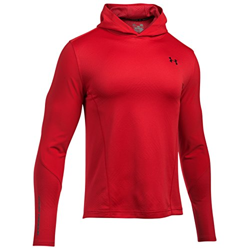 Under Armour Mens CGI Grid Pullover Hoodie - Red - (Under Armour Mens Pullover)
